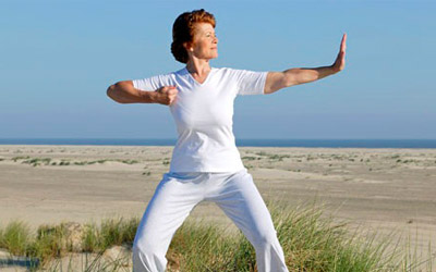 Tai Chi Practice on Beach - Tai Chi Arts School - Downingtown, Exton, West Chester, PA